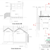 building regulation plans with open ceiling and ridge beam