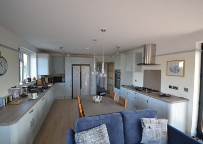 Internal view of completed single storey kitchen and dining room extension