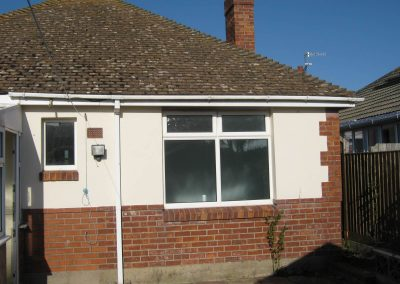 Rear elevation prior to construction of single storey kitchen and dining room extension