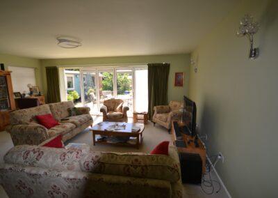 Internal view of lounge showing multi fold doors