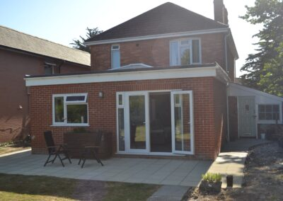 Single storey extension creating kitchen and dining room at  Dorchester Road